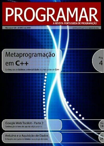 Capa da 20ª edição da revista PROGRAMAR