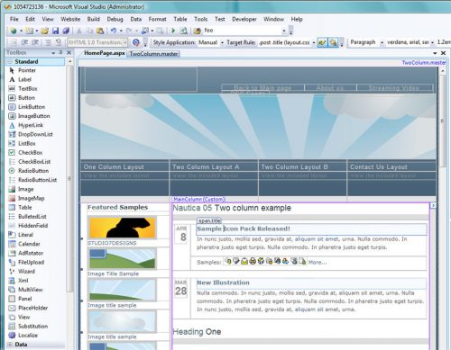 Visual Studio 2008: Master Pages Encadeadas