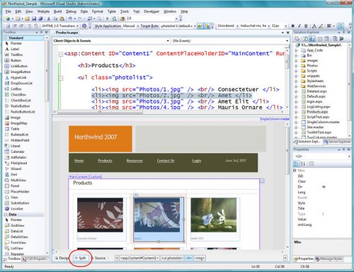 Visual Studio 2008: Split View