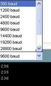 Arduino: taxa de transmissão
