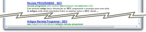 SEO keywords: resultados com keywords realçadas