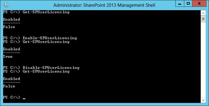 SharePoint: Utilização dos cmdlets Enable-SPUserLicensing e Disable-SPUserLicensing