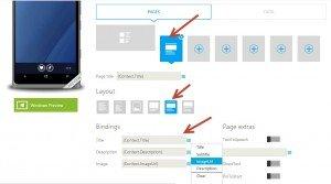 App Studio: Bindings da Página de Detalhes