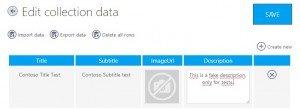 App Studio: Dados