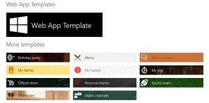 App Studio: Templates