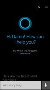 Cortana: perguntar