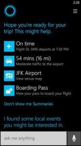 Cortana: respostas