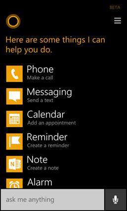 Cortana: ver mais