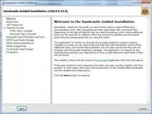 SandCastle: executar instalador