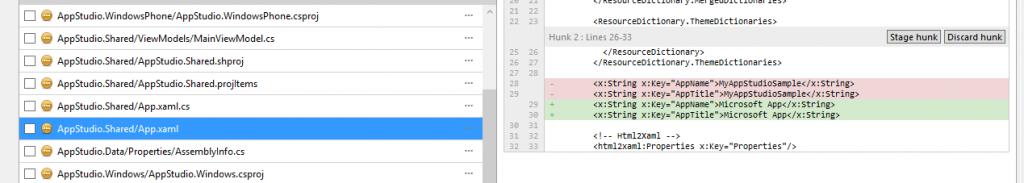 Source Tree: diferenças num ficheiro