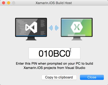 Xamarin: Aplicação Mac Build Host