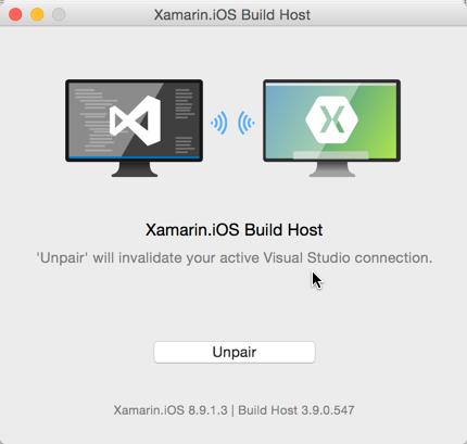Xamarin: Build Host paired