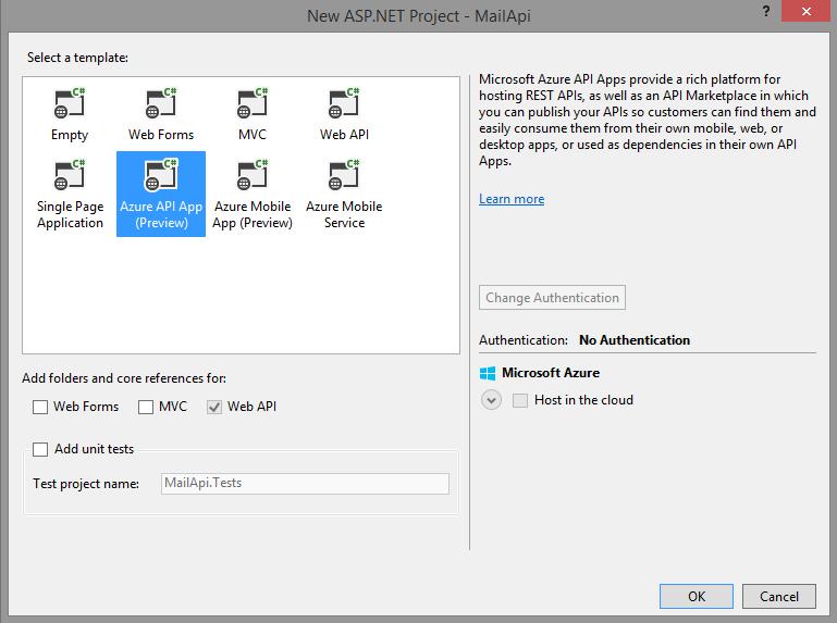 Template Azure API App