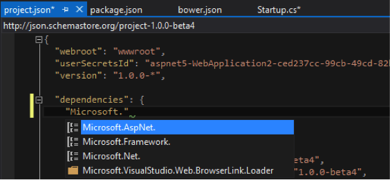 ASP.NET: IntelliSense nas packages NuGet