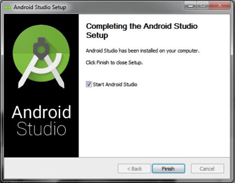 Android Studio: instalação concluída