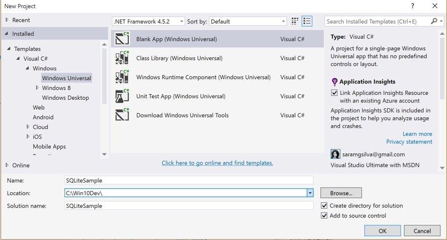 Criação de Windows 10 Universal App