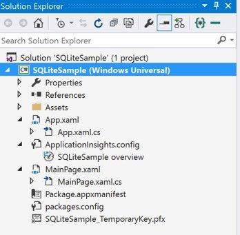 Solução de uma aplicação Windows 10 Universal