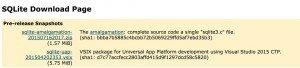 Obtenção do SQLIte para UAP (sqlite-uap-201504202353.vsix)