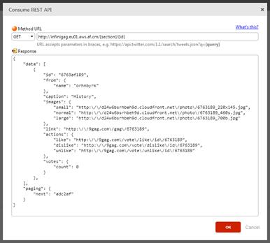 Exemplo de JSON de resposta