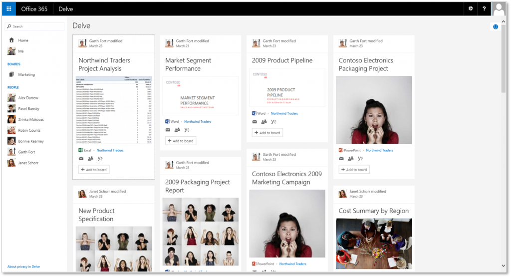 Office Delve – Homepage