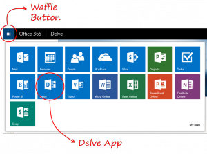 Menu do Office 365
