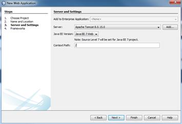 NetBeans: definições do servidor