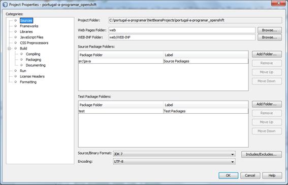 NetBeans: versão do Java