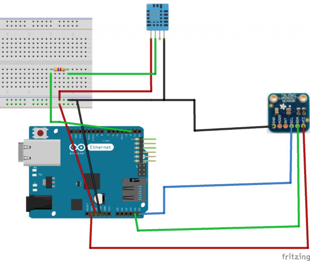 Arduino: esquema de ligações