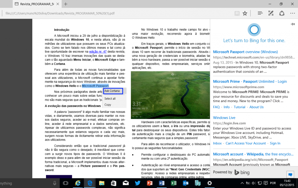 Windows 10: Ask Cortana - PDF