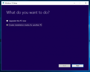 Windows 10: Microsoft Media Creation Tool