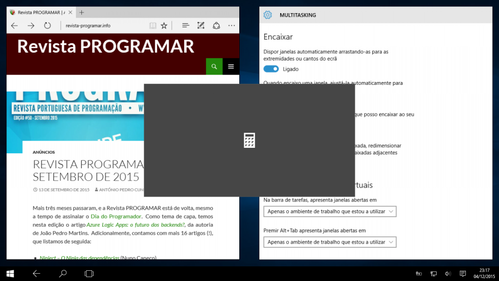 Windows 10: modo tablet