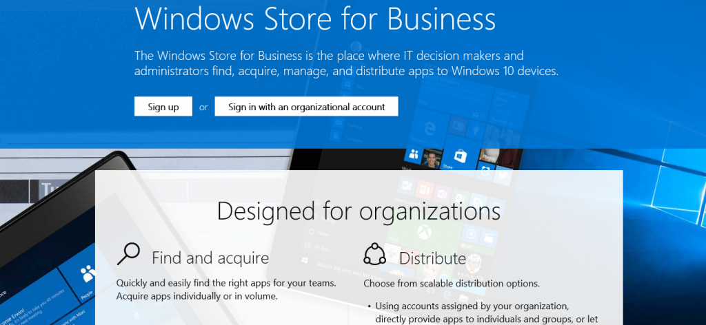 Windows 10: Windows Store for Business