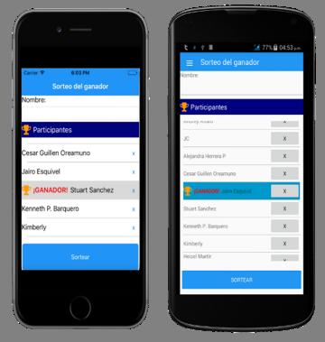 Xamarin 4: screenshots da aplicação desenvolvida