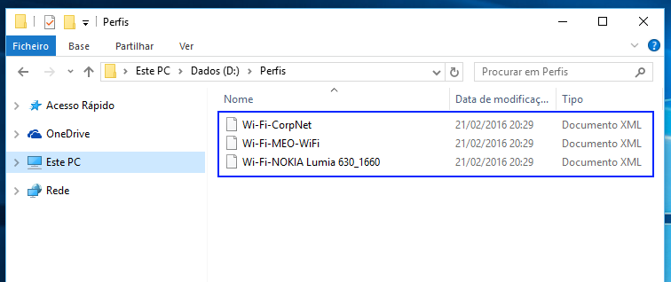 Windows 10: perfis de redes wireless