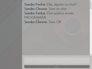 Chat Público PHP: conversa