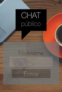 Chat Público PHP: página inicial