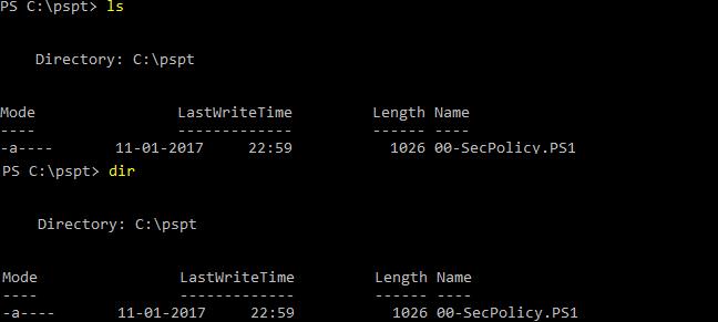 Azure com PowerShell: Exemplo da listagem de ficheiros