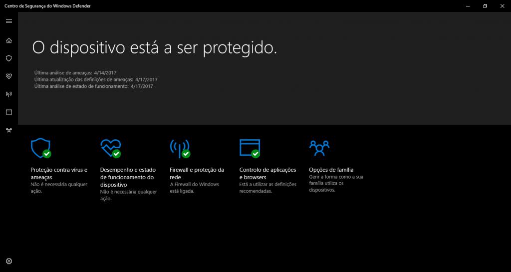 Windows Defener Security Center