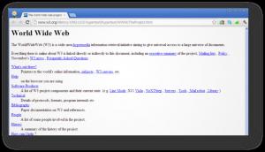 Primeiro página web